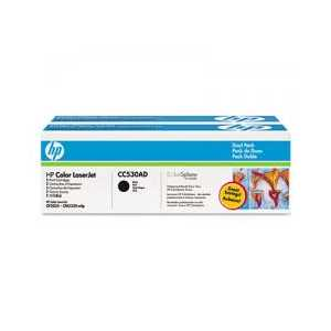 Original HP 304A Black toner cartridges, CC530AD, 2 pack