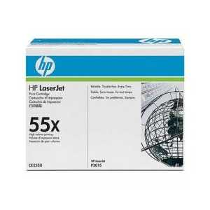 Original HP 55X Black toner cartridge, High Yield, CE255X, 12500 pages