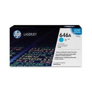 Original HP 646A Cyan toner cartridge, CF031A, 12500 pages