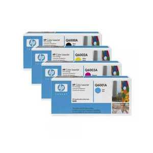 Original HP 124A toner cartridges, 4 pack
