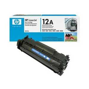 Original HP 12A Black toner cartridge, Q2612A, 2000 pages