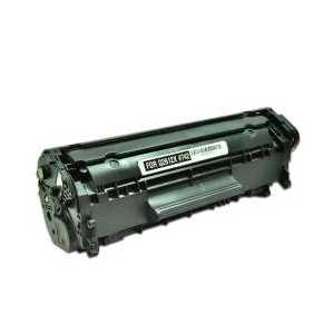 Remanufactured HP 12X Black toner cartridge, High Yield, Q2612X, 4000 pages