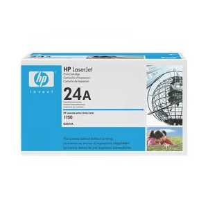 Original HP 24A Black toner cartridge, Q2624A, 2500 pages