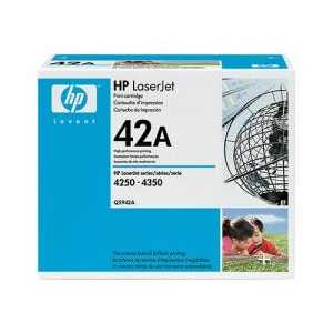 Original HP 42A Black toner cartridge, Q5942A, 10000 pages