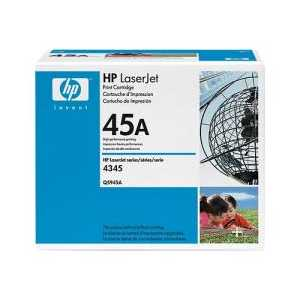 Original HP 45A Black toner cartridge, Q5945A, 18000 pages