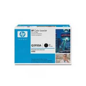 Original HP 643A Black toner cartridge, Q5950A, 11000 pages