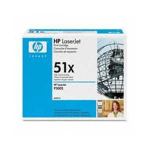 Original HP 51X Black toner cartridge, High Yield, Q7551X, 13000 pages