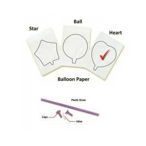 InkFlatables Heart Printable Balloon A4 size