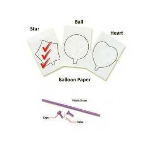InkFlatables Star Printable Balloon A4 size - 3-pack