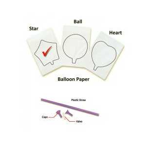 InkFlatables Star Printable Balloon A4 size