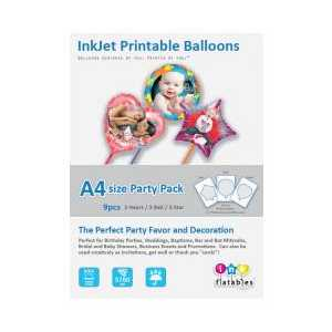 InkFlatables Printable Balloon Home Starter Pack A4 size - 9-pack