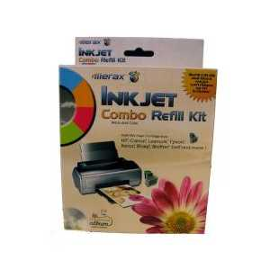 Combo Inkjet Refill Kit - 60ml black, 30ml each cyan, magenta, yellow ink
