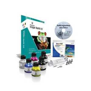 Uni-Kit 4 Color Inkjet Refill Kit - 64ml black, 32ml each cyan, magenta, yellow ink