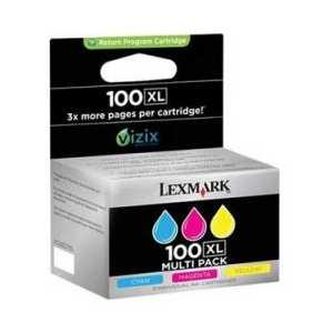 Multipack - Lexmark 100XL genuine OEM ink cartridges - 14N0684 - 3 pack