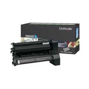 Lexmark 10B042C Cyan genuine OEM toner cartridge