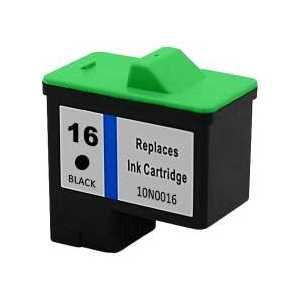 Remanufactured Lexmark 16 Black ink cartridge, 10N0016
