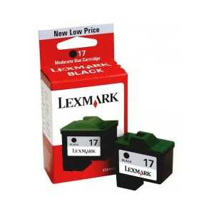 Original Lexmark #17 Black ink cartridge, 10N0217