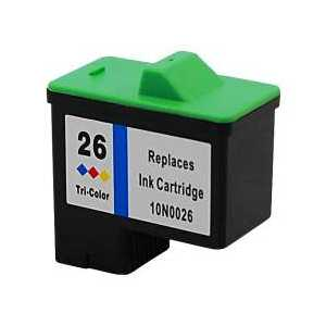 Remanufactured Lexmark 26 Color ink cartridge, 10N0026