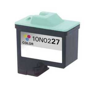 Remanufactured Lexmark 27 Color ink cartridge, 10N0227