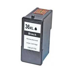 Remanufactured Lexmark 36XL Black ink cartridge, High Yield, 18C2190, 18C2170