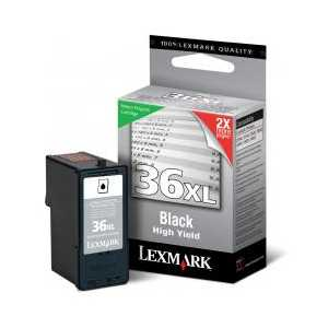 Lexmark 36XLA Black High Yield genuine OEM ink cartridge - 18C2190