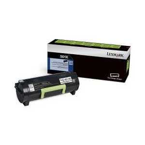 Original Lexmark 501X Black toner cartridge, 50F1X00, Extra High Yield, 10000 pages