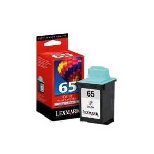 Original Lexmark #65 Color ink cartridge, 16G0065