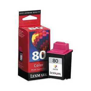 Original Lexmark #80 Color ink cartridge, 12A1980