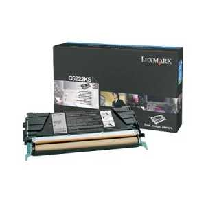 Original Lexmark C5222KS Black toner cartridge, 4000 pages
