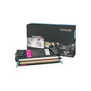 Original Lexmark C5222MS Magenta toner cartridge, 3000 pages