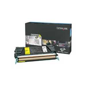 Original Lexmark C5222YS Yellow toner cartridge, 3000 pages