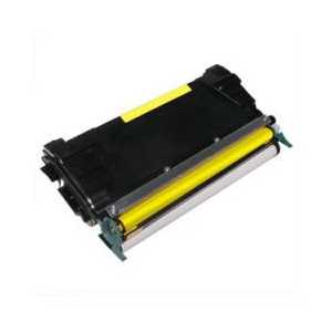 Remanufactured Lexmark C5222YS Yellow toner cartridge, 3000 pages