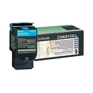 Original Lexmark C540A1CG Cyan toner cartridge, 1000 pages