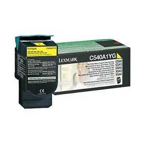 Original Lexmark C540A1YG Yellow toner cartridge, 1000 pages