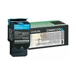 Original Lexmark C540H1CG Cyan toner cartridge, High Yield, 2000 pages