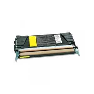 Remanufactured Lexmark C734A2YG Yellow toner cartridge, 6000 pages
