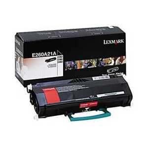 Original Lexmark E260A21A Black toner cartridge, 3500 pages