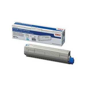 Original OKI 44844511 Cyan toner cartridge, 10000 pages