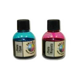 Uni-Kit Photo Inkjet Refill Kit - 32ml each photo cyan, photo magenta ink