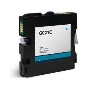 Compatible Ricoh GC21C Cyan gel ink cartridge, 405533