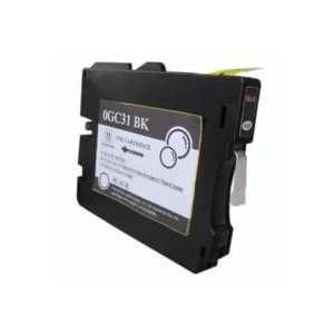 Compatible Ricoh GC31BK Black gel ink cartridge, 405688