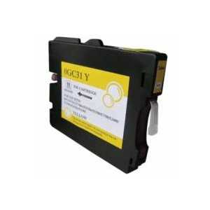 Compatible Ricoh GC31Y Yellow gel ink cartridge, 405691