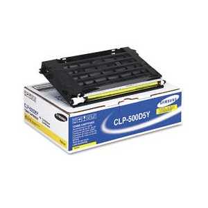 Original Samsung CLP-500D5Y Yellow toner cartridge, 5000 pages