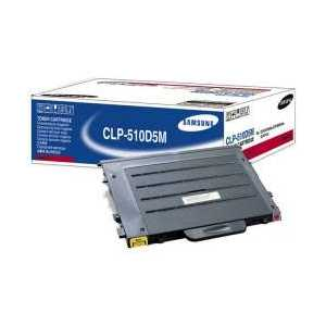 Original Samsung CLP-510D5M Magenta toner cartridge, 5000 pages