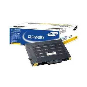 Original Samsung CLP-510D5Y Yellow toner cartridge, 5000 pages