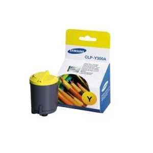 Original Samsung CLP-Y300A Yellow toner cartridge, 1000 pages