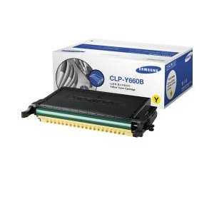 Original Samsung CLP-Y660B Yellow toner cartridge, 5000 pages