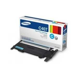 Original Samsung CLT-C407S Cyan toner cartridge, 1000 pages