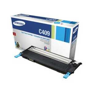 Original Samsung CLT-C409S Cyan toner cartridge, 1000 pages
