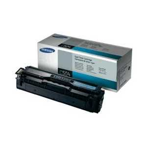 Original Samsung CLT-C504S Cyan toner cartridge, 1800 pages